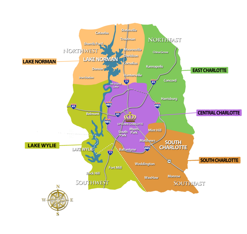 Charlotte Area Community Search Map